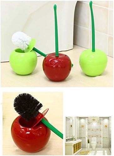 Creativo a forma di ciliegio buona spazzola da bagno con impugnaturacompatta manico in plastica ABS scopino decorativo attrezzo per la pulizia del bagno Scopino Spazzola Per Scopino e porta scopino