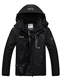 American Trends Men's Waterproof Mountain Jacket Fleece Hooded Ski Jacket