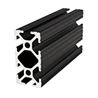 "80/20 Inc., 1020, 10 Series, 1"" x 2"" T-Slotted Extrusion x 60"" Black from 80/20 Inc."