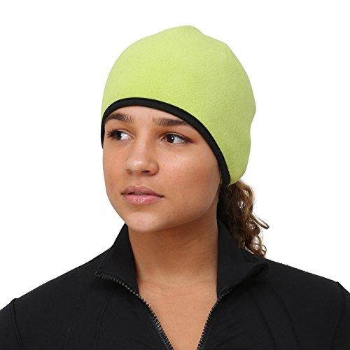 TrailHeads Women's Running Ponytail Hat - chartreuse / black