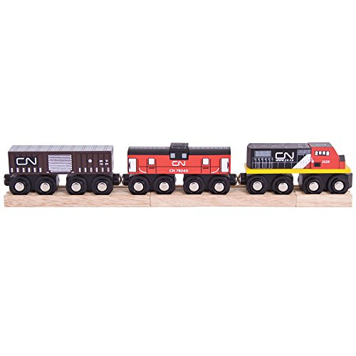 The Rail Train - Bigjigs Rail Canadian National Train - Other Major Wooden Rail Brands are Compatible