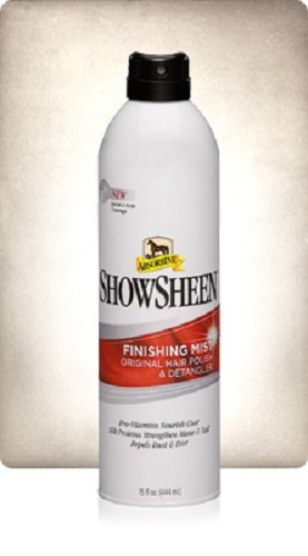 Absorbine 15 oz Showsheen Finishing Mist Horse Hair Polish and Detangler Nourishes Coat
