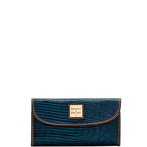 Lizard Embossed Wallet - Dooney & Bourke Lizard-Embossed Continental Wallet Mid Blue, a Macy's Exclusive