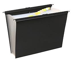 Wilson Jones 13 Pocket Expanding File w/ Slidebar, Letter Size, Black, Bundle Pack of 2