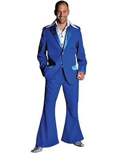 Adult Uomo 70's Suit blu Extra Large Fancy Dress