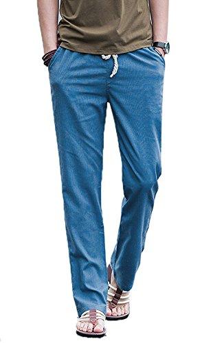 13b21fac3b Lino Icegrey Con Di Spiaggia Elastica Uomo Casual Estivi Cinghia Blu  Pantaloni tp77wBrq1