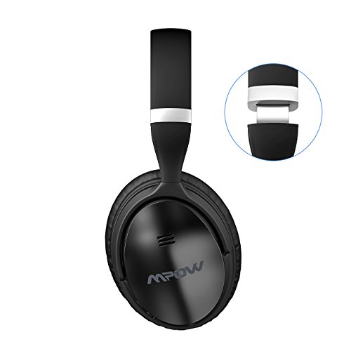 Large Product Image of Mpow H5 Active Noise Cancelling Bluetooth Headphones, Over Ear Wireless Headset w/Mic, Dual 40 mm Drivers with Hi-Fi Deep Bass, 30+ Hour Playtime with Backup Audio Cable for PC/Cell Phones/TV
