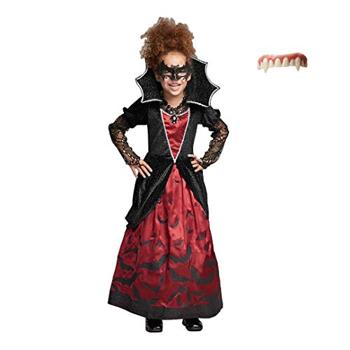 CHASING FIREFLIES Batty Vampire Costume for Girls (Includes Vampire Fangs) ()
