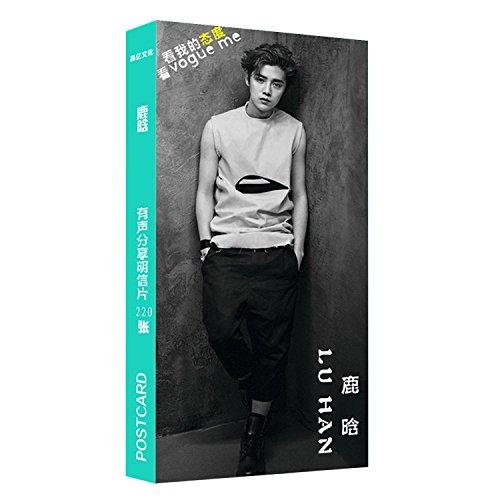 بسته Kpop 40 قطعه کارت پوستر کارت عکس کارت پستال با کیفیت عکس polaroid EXO 2PM Beast GD TVXQ Shinee Super Junior BAP (Luhan)