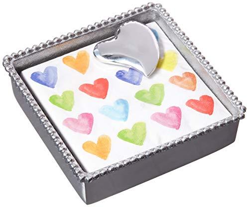 Mariposa 1321-C Heart Beaded Napkin Box, One ()