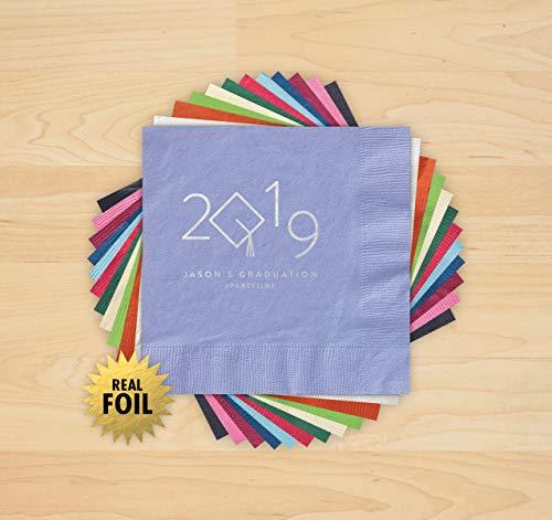 2019 Grad Cap Foil Napkins - Set of -
