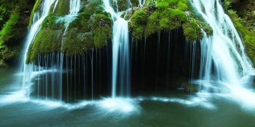 Glass Wall Art Startonight Acrylic Decor Bigar Waterfall, Landscape Artwork 24 by 48 Inches ()