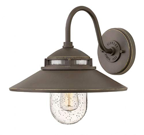 (Hinkley 1110OZ Restoration One Light Outdoor Wall Mount from Atwell collection in Bronze/Darkfinish,)
