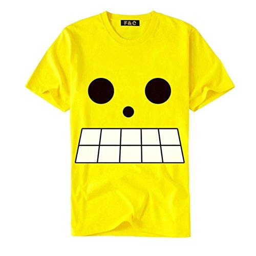 F&C ONE PIECE Anime Shirts 6 Yellow L
