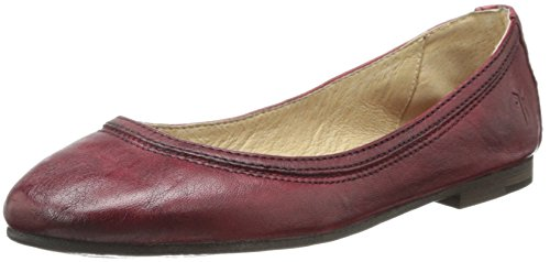 (FRYE Women's Carson Ballet Flat, Burnt Red Antique Soft Vintage, 7 M US)