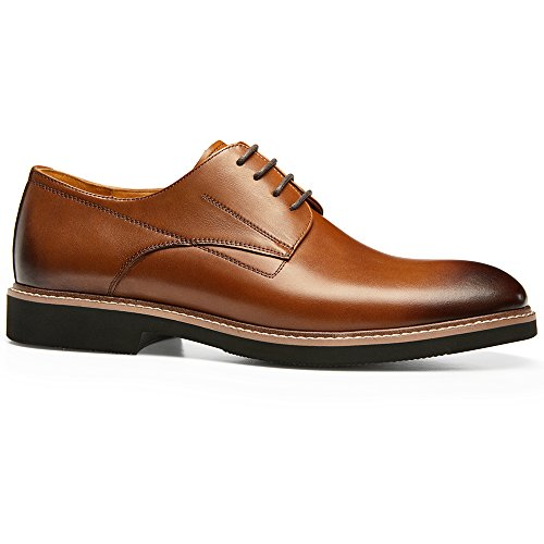 Gifennse Mens Loisirs Lace-up Plat Chaussures Robe Oxford Marron