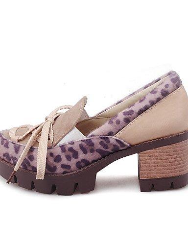 Bianco da Rosso donna tonda Scarpe col Heels Heel Punta Bianco Uk4 Vestite Wholesale Cn36 us6 Ggx Similpelle Almond Eu36 tacco Scarpe aIw5EqwF