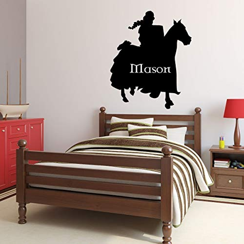- Custom Knight Wall Decal - Personalized Medieval Decoration for Boys Bedroom, Playroom, Man Cave | Small, Large Sizes | Black, White, Red, Brown, Gold, Silver, Other Colors