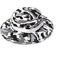 VCB AT8704 Sombrero de Pescador Deporte al Aire Libre Camuflaje Sombrero de Pesca Sombrero de Gorra de Caza - Impresión de pie (Gris)