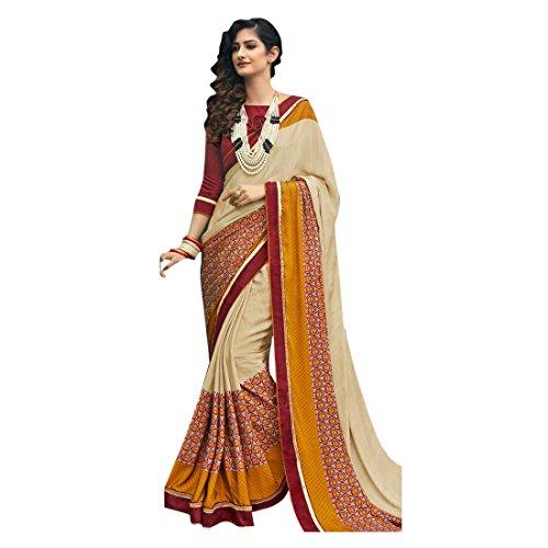abito 100 indiano crape donne gonna collezione saree originale culutral tradizionale sari lavoro lavoro 826 bollywood jari saree Designer manuale ricamo R0wgnU