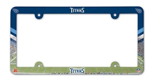 Tennessee Titans Laser License Plate - WinCraft NFL Tennessee Titans Full Color License Plate Frame, Team Color, One Size