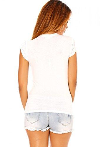 dmarkevous - Tee shirt blanc imprimé basket - S-M, blanc