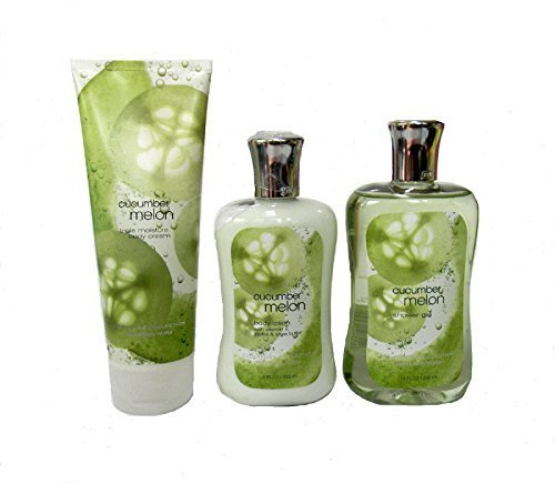 Bath & Body Works Signature Collection Cucumber Melon Gift Set ~ Body Cream ~ Shower Gel & Body Lotion. Lot of 3 by Bath & Body Works