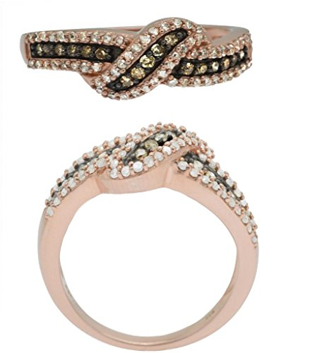 12-CTTW-Sterling-Silver-White-Brown-Diamond-ring