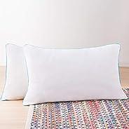 Paquete de 2 almohadas de Memory Foam triturado Linenspa: moldeables, esponjables y personalizables; comodidad