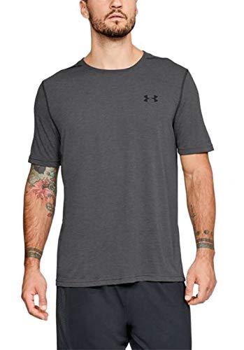 Under Armour Tech 2.0 Short-Sleeve Shirt - Men's Carbon Heather/Black, XS by Under Armour