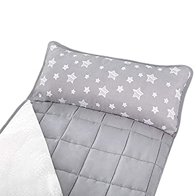 Moonsea Toddler Nap Mat with Removable Pillow and Fleece Minky Blanket, Lightweight and Soft Perfect for Kids Preschool, Daycare, Travel Sleeping Bag Boys and Girls, Designed to Fit on a Standard Cot : Baby