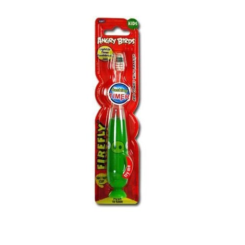 Angry Birds Green Pig Light Up Toothbrush - Angry Birds Toothbrush 4SG