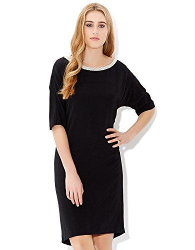 Monsoon Womens Holly Dress Size 4 Black
