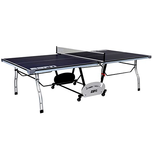 ESPN Table Tennis Table Net and Post Set Indoor Outdoor Folding Portable 9' X 5'