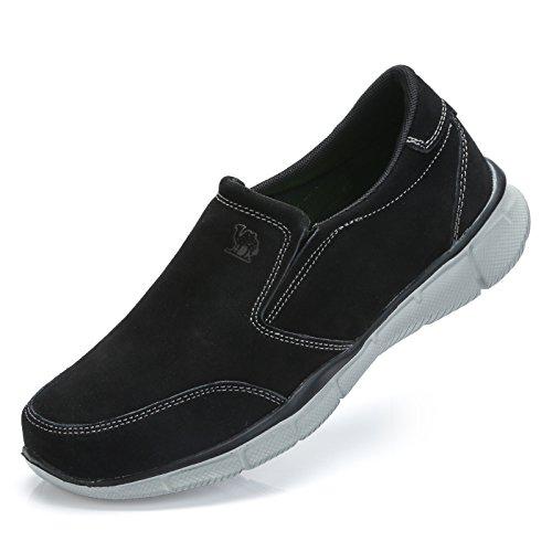 ... Chaussures De Marche Camel Pour Hommes Chaussures En Cuir Suédé ... a6286c3616c1