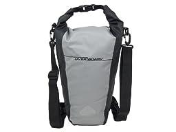 OverBoard Waterproof Pro-Sport Roll-Top SLR Camera Bag, Grey/Black, 15-Liter