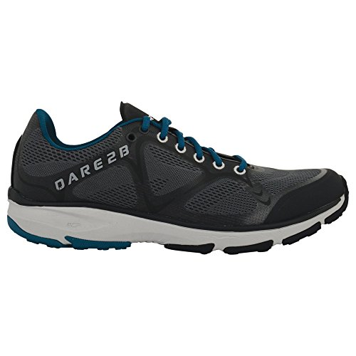 Dare 2b Mens Altare Lightweight Breathable Polyurathane Trainers Black/AlGrey