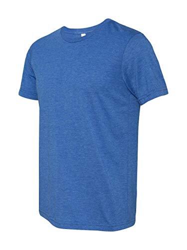 (Bella + Canvas 3413 Unisex Triblend Short-Sleeve T-Shirt, True Royal Triblend, Size Small)