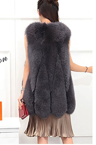 della cappotto donne Rivestimento Womens pelliccia delle FOLOBE faux di di inverno del Arancione del HtpIqqwW