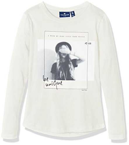 TOM TAILOR Kids Mädchen T-Shirt Longsleeve with Photoprint, Beige (Soft Light Beige 8587), 164 (Herstellergröße: 164)