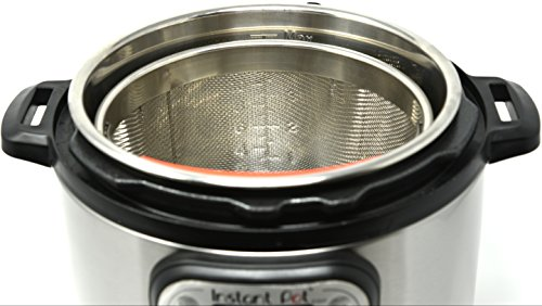 The Original Salbree 6qt Steamer Basket for Instant Pot Accessories, Stainless Steel Strainer and Insert fits IP Insta Pot, Instapot 6qt & 8qt, Other Pressure Cookers and Pots, Premium Silicone Handle by Salbree (Image #1)