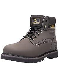CAMEL CROWN Men's 6'' Plain Soft Toe Work Boots Premium Full Grain Leather Rubber Sole