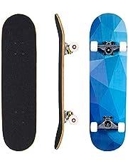 """Seasonland Skateboard 7 Lagen Decks 31""""x8"""" Pro Compleet Skate Board Esdoorn Hout Longboards voor Tieners Volwassenen Beginners Meisjes Jongens Kids"""