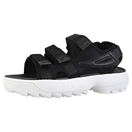 Fila Disruptor Sandal Womens Fashion Sandals in Black White - 9 UK