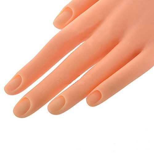 HuangHM Flexible Prosthetic Soft Fingers Flectional Mannequin Model Fake  Hand Nail Art Practice for Manicure Training Design Press on Nails Beauty