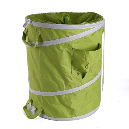 26 Gallon Trash Bags (IPOMELO 26 Gallon Garden Bags Reusable Yard Waste Bag with Extra 72 Gardening Trash Lawn Leaf Bag)