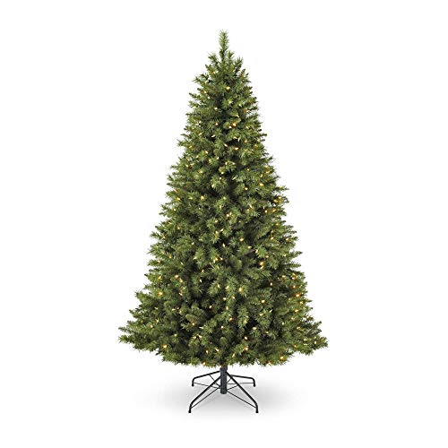 NOMA 7-Foot Pre-lit Christmas Tree with Lights | Henry Fir | 400 Color-Changing LED Bulbs | Clear Warm White and Multicolor Lights | 1000 Branch Tips (Christmas Color Tree)