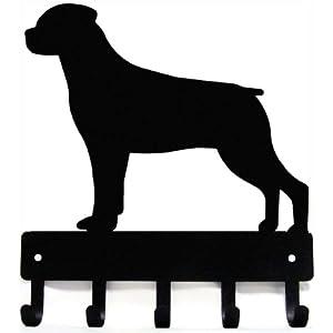Rottweiler Key Rack & Dog Leash Hanger - Small 6 inch 4