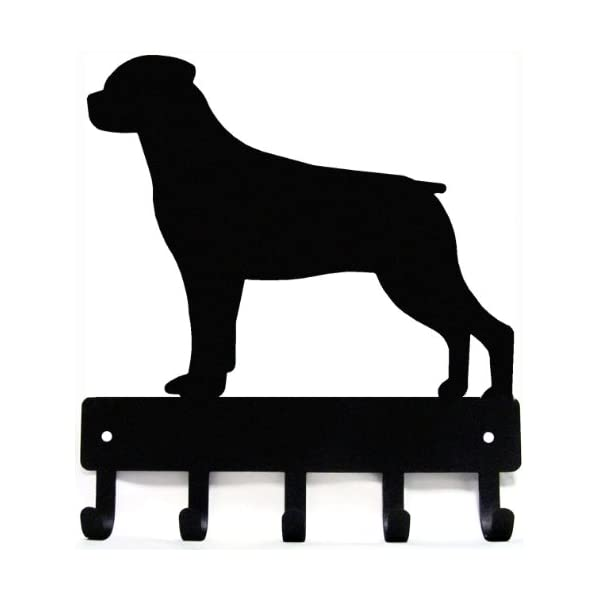 Rottweiler Key Rack & Dog Leash Hanger - Large 9 inch 1