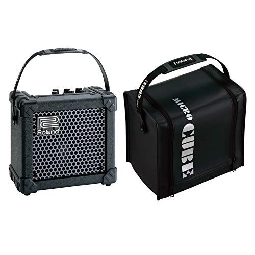 Roland Micro Cube Guitar Amplifier Bundle with CB-MCC1B Protective Cover, Black